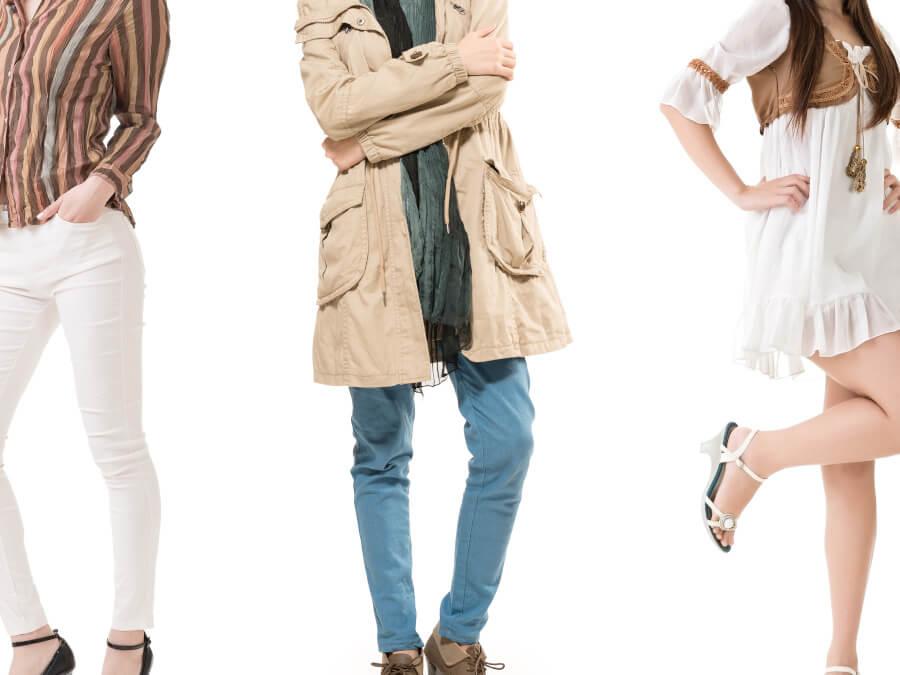 3人の女性の服